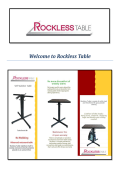 Rockless Self Level Tables Laguna Niguel, CA