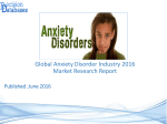 Global Anxiety Disorder Market and Forecast Report 2016-2021