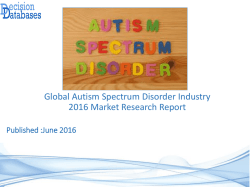 Global Autism Spectrum Disorder Market 2016-2021