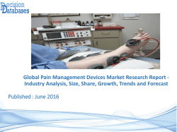 Analysis on Pain Management Devices Market Research Report