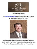 Sachs Family Dental Implants In Orem