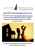 Elite Financial Mortgage Company Thousand Oaks