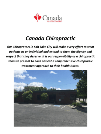 Canada Chiropractors In Salt Lake City, Utah