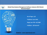 Global Cloud System Management Software Industry Demand, Supply and Forecast 2021