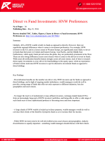 Global High-Net-Worth Preference Research Report: Fund vs Direct Investments