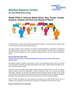FPGA in Telecom Market Analysis, Overview and Forecasts 2016 - 2020