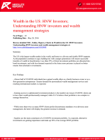 American Wealth Analysis Report 2016: HNW Investors; Understanding HNW Investors and Wealth Management Strategies