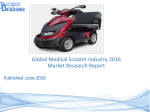 Global Medical Scooter Market and Forecast Report 2016-2021
