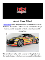 Ghost Shield Car Wrapping in Los Angeles