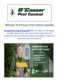 O'Connor Pest Control Service in Camarillo, CA