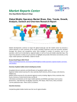 Mobile Operators Market Insights, Trends, Growth, Analysis and Forecasts, 2016-2020