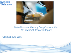 Global Immunotherapy Drug Consumption Market 2016:Industry Trends and Analysis
