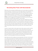 Harvesting Solar Power with Nanomaterials-Nanografi