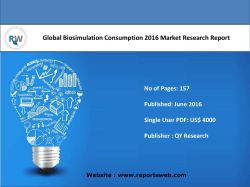 Global Biosimulation Consumption Industry Trends and Opportunities 2021
