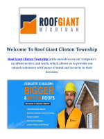 Roof Giant : Roofers in Clinton Township