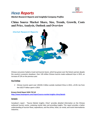 China Source Market  Share, Costs and Price: Hexa Reports