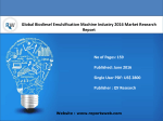 Global Biodiesel Emulsification Machine Industry Report Emerging Trends and Forecast 2021