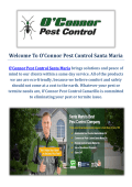 O'Connor Pest Control Company in Santa Maria