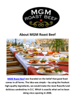 Catering in Washington, DC : MGM Roast Beef