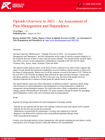 Opioids Overview to 2021 Research Report: An Assessment of Pain Management and Dependence