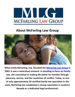 Child Custody Lawyers in Las Vegas, NV | McFarling Law Group