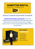 Dumpster Rental Service in Shelby Township