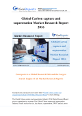 Global Carbon capture and sequestration Market Research Report 2016