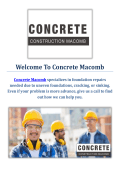 Concrete Contractor in Macomb