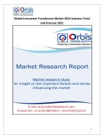 World Instrument Transformer Market 2016 - 2021 Research Report