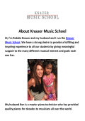 Knauer Music School : Piano Lessons in Woodland Hills, CA