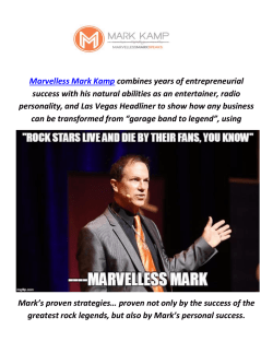 Marvelless Mark Kamp : Keynote Speaker In Boston