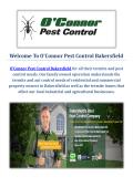 O'Connor Pest & Termite Control Service in Bakersfield