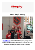Simply Moving Company in New York