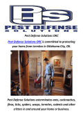 Pest Defense Solutions : Pest Control In Oklahoma City, OK