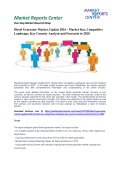 Diesel Generator Market, Update 2016 - Market Size, Competitive Landscape, Key Country Analysis and Forecasts to 2020
