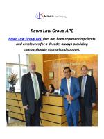 Rawa Law Group APC : Work Injury Lawyer In Orange County