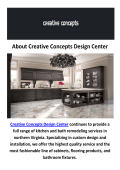 Creative Concepts Design Center : Kitchen Remodeling Fairfax VA