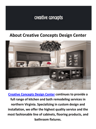 Creative Concepts Design Center : Kitchen Remodeling Fairfax VA