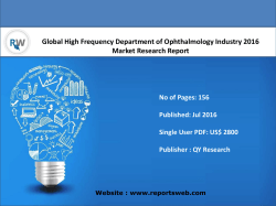 Global High Frequency Department of Ophthalmology Market Report Development Plans, Policies and Sales Forecast 2021