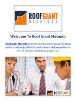 Roof Giant Roofing Contractors in Macomb, MI