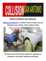 Collision San Antonio : Body Shop in San Antonio, TX