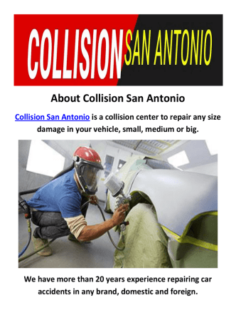 Collision San Antonio : Body Shop in San Antonio, TX
