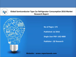 Global Semiconductor Type Car Refrigerator Consumption Industry Emerging Trends and Forecast 2021