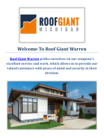 Roof Giant Roofing Company in Warren