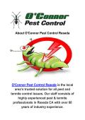O'Connor Pest Exterminators in Reseda