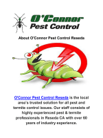 O'Connor Pest Exterminators in Reseda