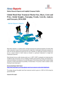 Global Metal Heat Treatment Market Is Forecasted To Grow At A CAGR of 6.16% By 2020: Hexa Reports