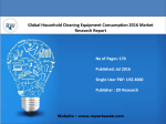 Global Household Cleaning Equipment Consumption Industry Emerging Trends and Forecast 2021