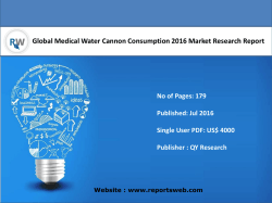 Global Medical Water Cannon Consumption Industry Emerging Trends and Forecast 2021