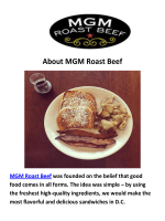 MGM Roast Beef - Office Catering in DC